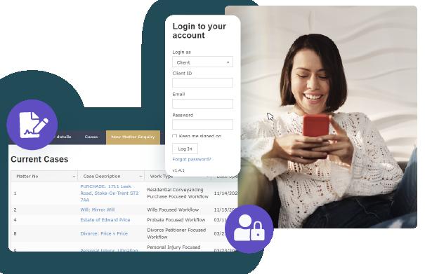 Online client portal for effective communication
